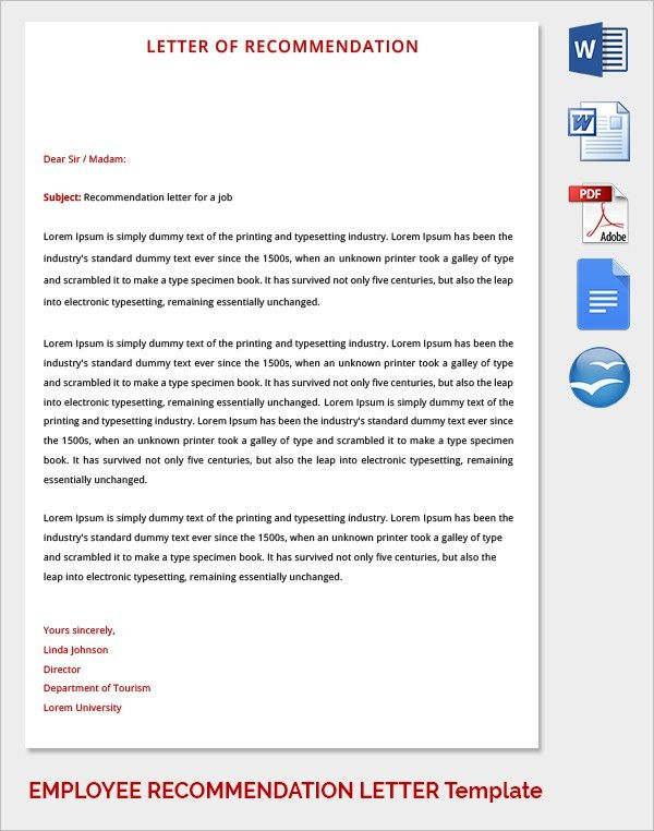 Sample Recommendation Letter Formats - 15+ Download Documents in ...