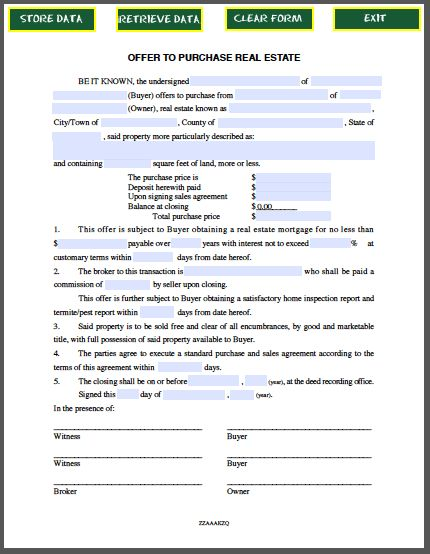 Ohio Real Estate Purchase Contract Pdf | Create professional ...