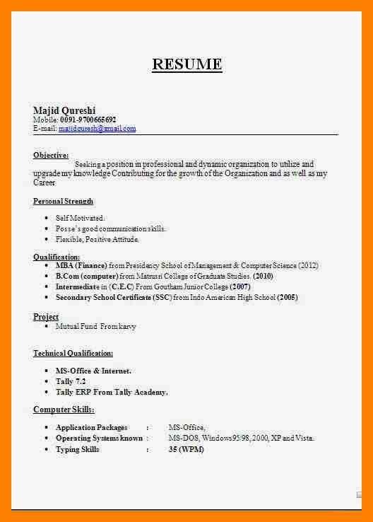 4+ biodata format for teachers   emt resume