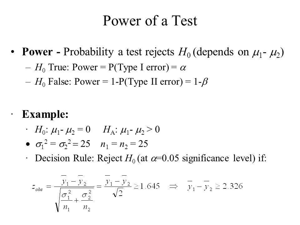 Hypothesis Testing Goal: Make statement(s) regarding unknown ...