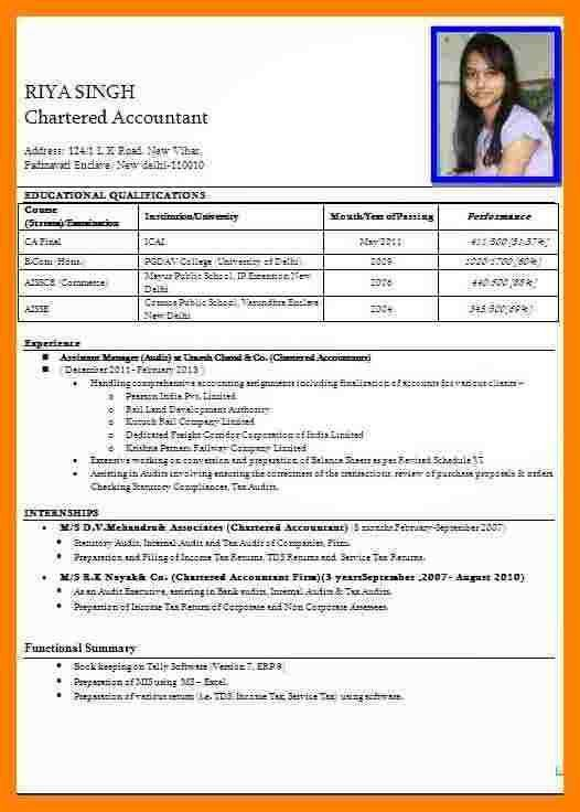 10+ curriculum vitae indian format   resume language