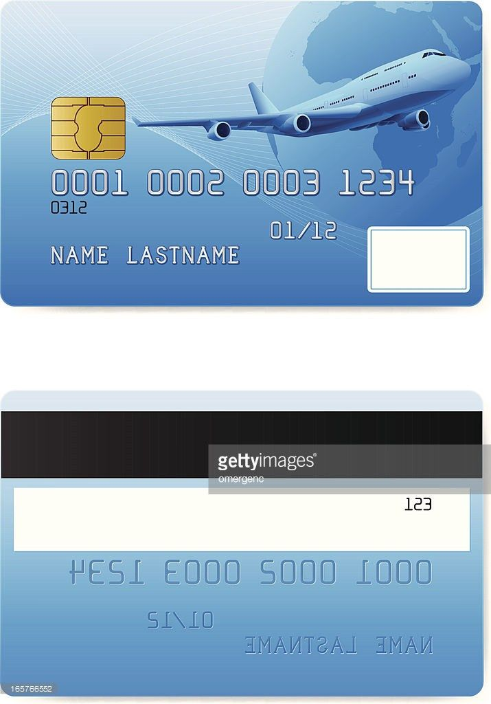 Front And Back Of A Credit Card Design Template Vector Art | Getty ...