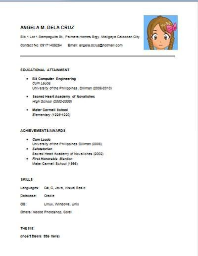 examples of resumes best photos basic resume template word simple ...
