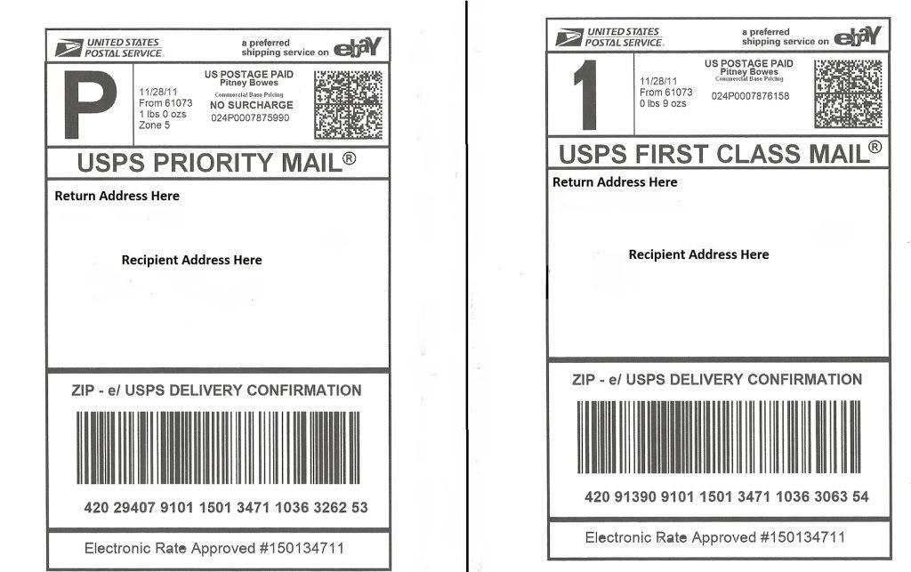 100 Self Adhesive Shipping Labels - Laser/Inkjet Printer, PayPal ...