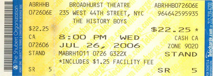 Broadway Tickets - Full Size Artwork