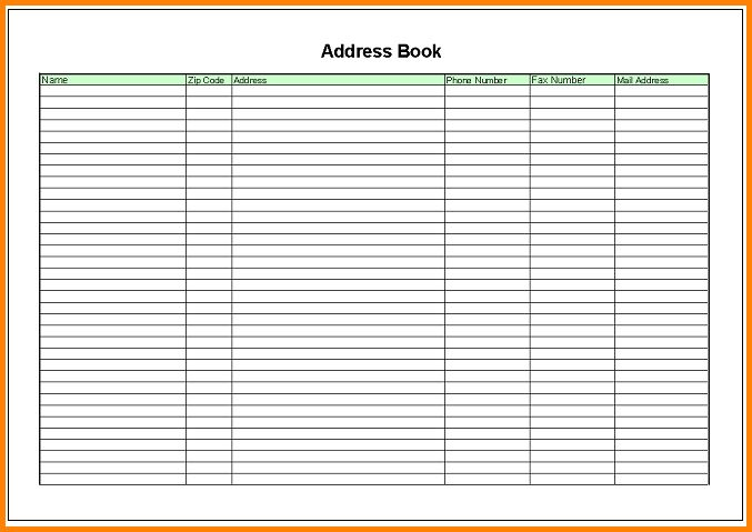 6+ excel address book template | memo templates