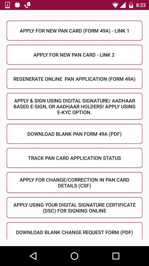 Pan Card all Online Services - Android Apps on Google Play