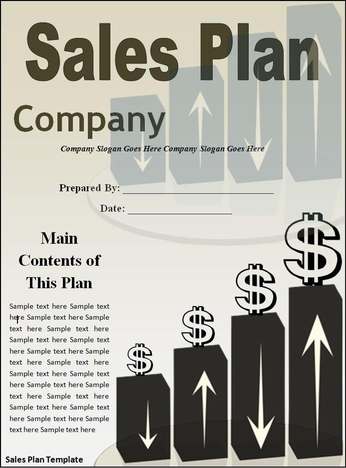 Sales Plan Template | Free Printable Word Templates,