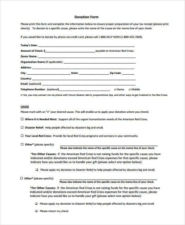 Sample Donation Form - 6+ Documents in PDF, Word