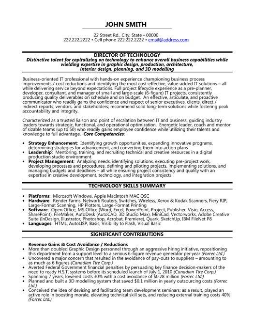 click here to download this director of technology resume template - Information Technology Resume Template