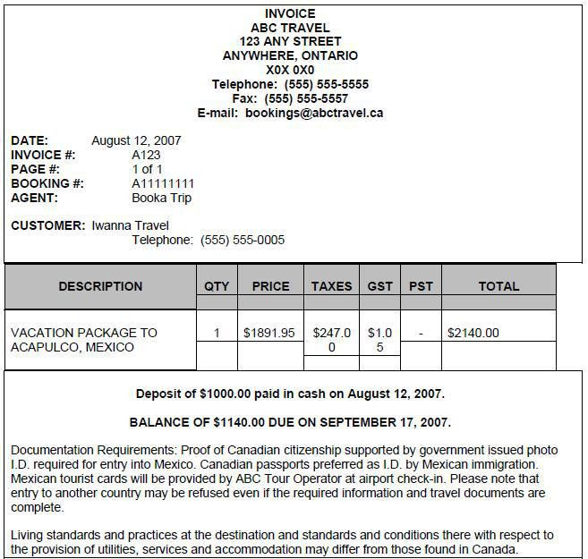 Download Invoice Template Travel Agency | rabitah.net
