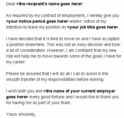 I-resign.com - Free Resignation Letter Templates and Sample ...