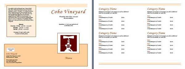 Restaurant Templates - Microsoft Word Templates