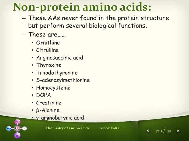 Chemistry of Amino Acids (Protein Chemistry - I)