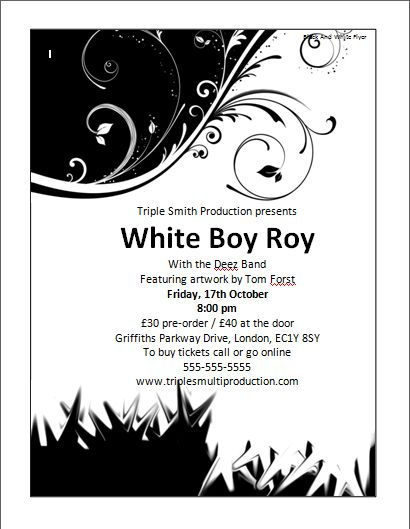 Black and White Flyer Template | Microsoft Word Templates