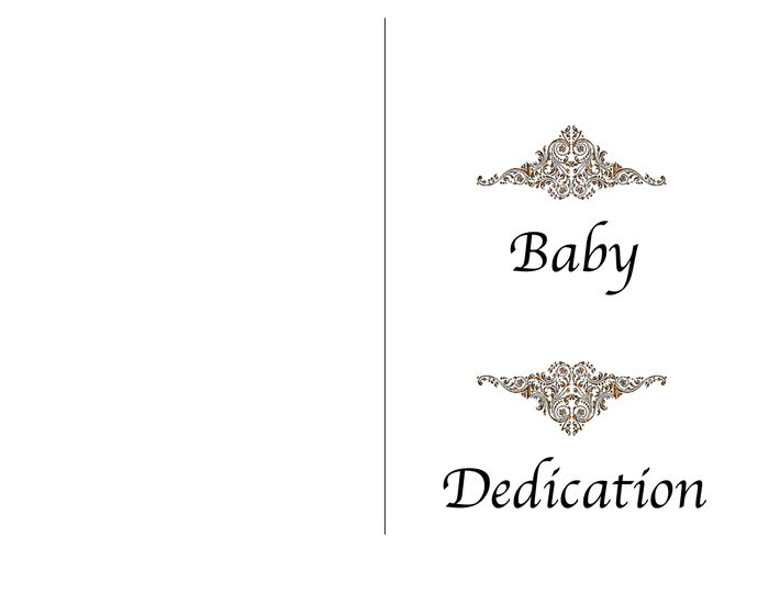 Baby dedication certificate template in Word and Pdf formats