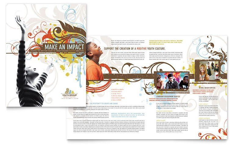 Church Youth Group Brochure Template - Word & Publisher