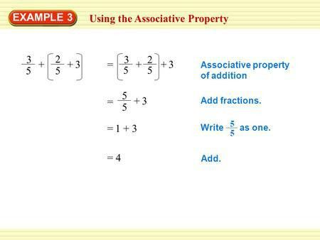 EXAMPLE 4 Using Properties of Multiplication Tell whether the ...