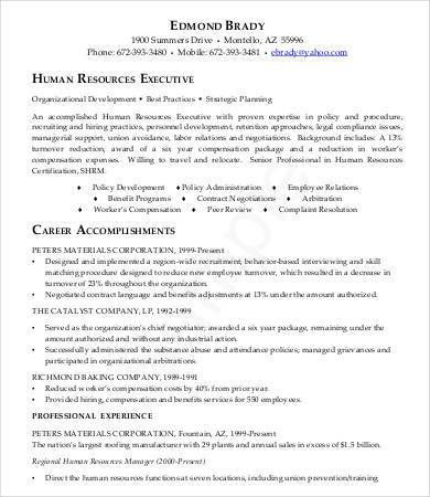 Sample Executive Resume - 9+ Free Sample, Example, Format | Free ...