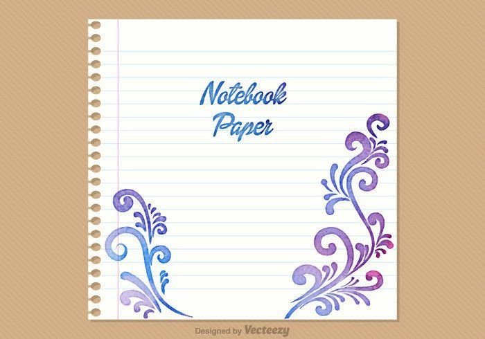 Free Notebook Paper Vector Background - Download Free Vector Art ...