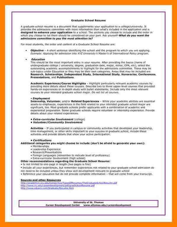 sample resume for graduate school sample resume for graduate