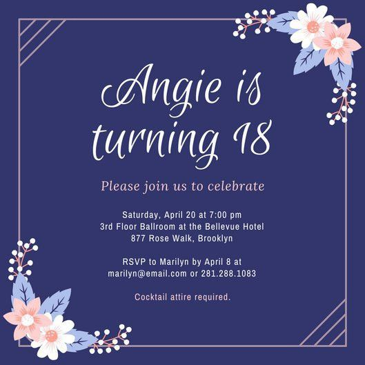 18th Birthday Invitations - dhavalthakur.Com