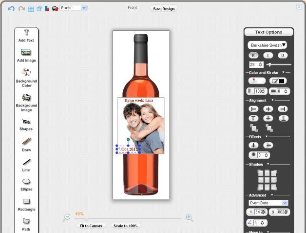 Sell Custom Wine Labels | Pixopa - Enterprise Web-to-Print Ecommerce
