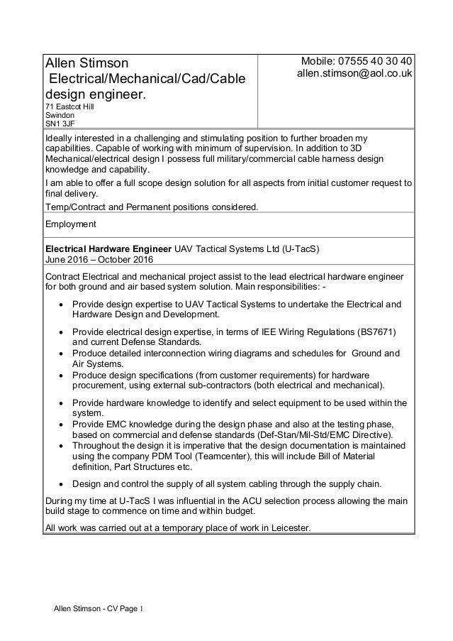 Hardware Design Engineering Cover Letter - Resume Templates