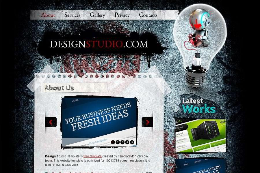 Free Website Template. Excellent for Web Design Studio - MonsterPost