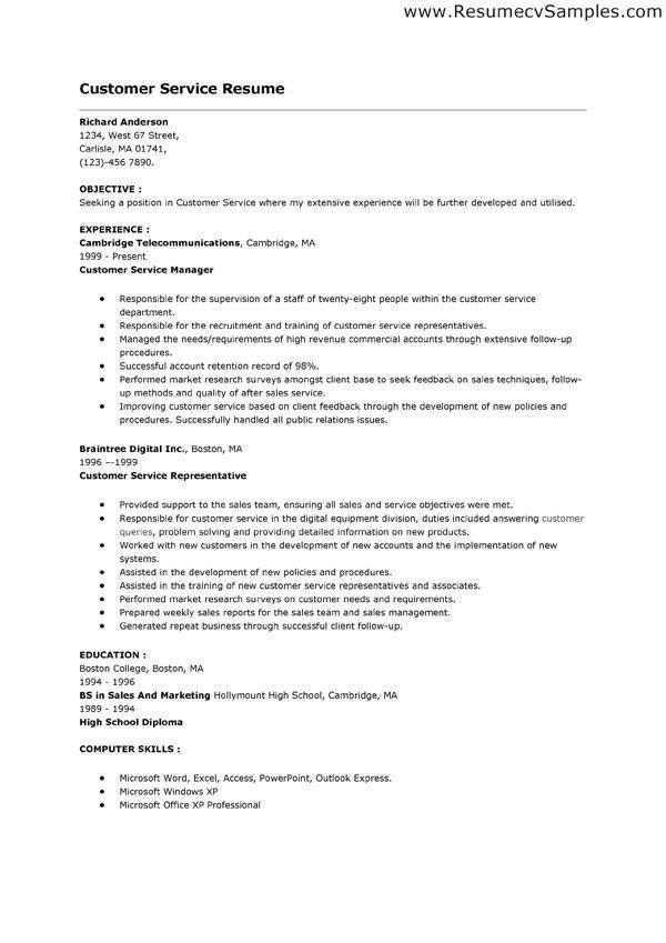 Customer Service Skills Examples - cv01.billybullock.us