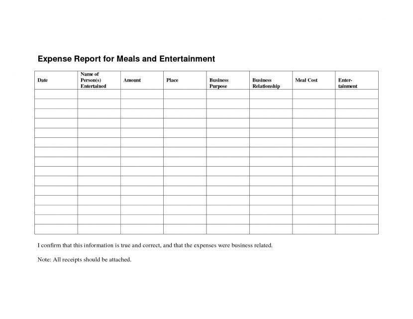 Expense Reimbursement Form Template It Resume Cover Letter Sample ...
