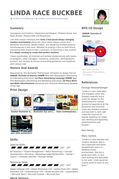 Graphic Designer Resume samples - VisualCV resume samples database