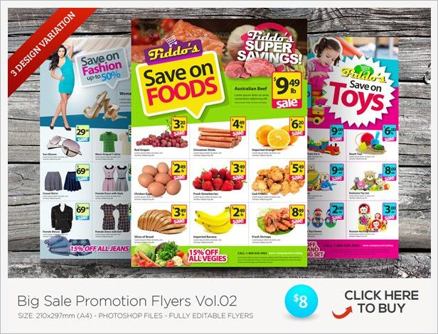 Cyber Monday Sale Flyer Templates by kinzi21 | GraphicRiver
