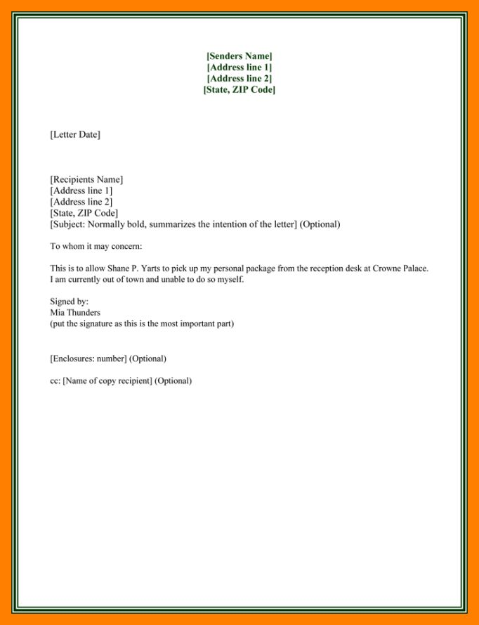 7+ letter of authorization | resumes great