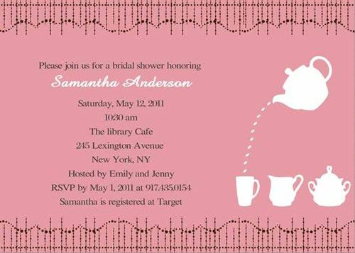 Special Wednesday}Bridal Shower Invitation Wording Samples ...