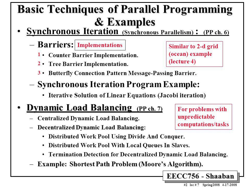 Basic Techniques of Parallel Programming & Examples - ppt download