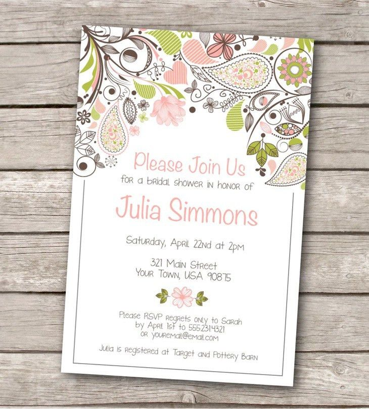 Free Printable Wedding Shower Invitations Templates | Belcantofour
