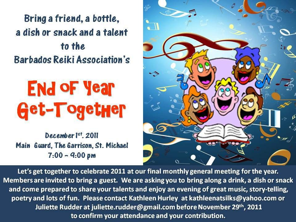 Barbados Reiki Association's End of Year Get Together – Dec 1st ...