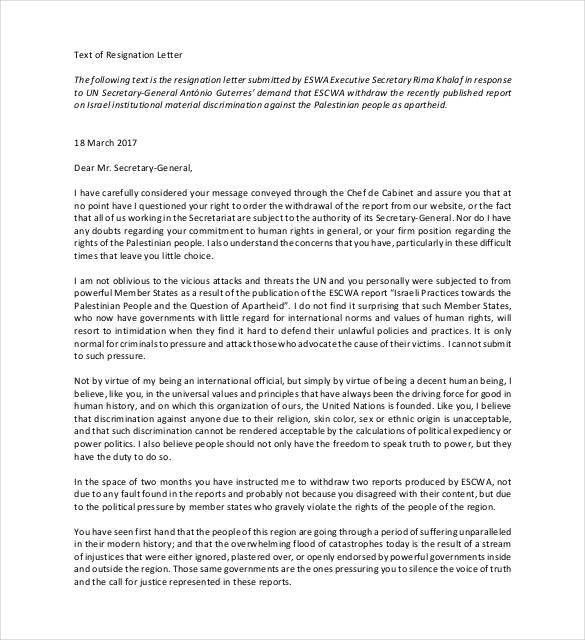 Simple Resignation Letter Template - 24+ Free Word, Excel, PDF ...