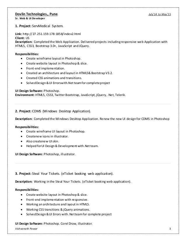 Ui Developer Resume | haadyaooverbayresort.com