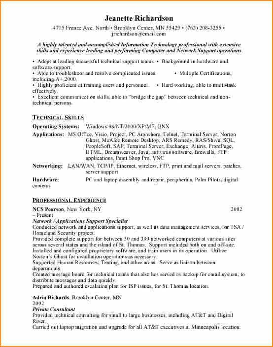 Interesting Resume For Application Support Engineer 93 For Your ...