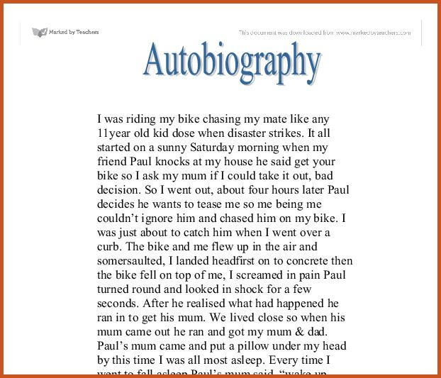 examples of autobiography | sop example