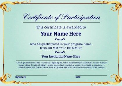 Free Certificate Templates | PageProdigy