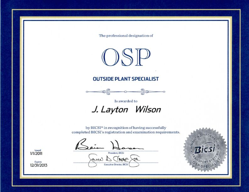 OSP - Outside Plant - Choctaw Defense Services
