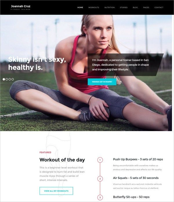 28+ Gym & Fitness Website Themes & Templates | Free & Premium ...