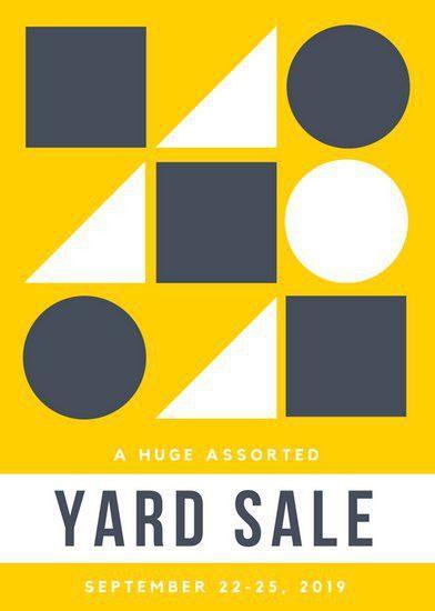 Yard Sale Flyer Templates - Canva