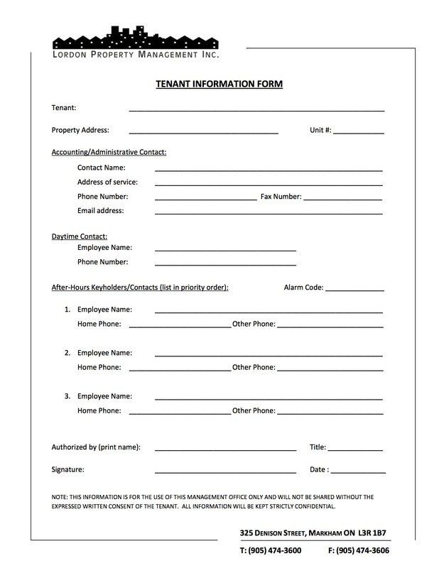 5+ Tenant Verification Forms – Word Templates
