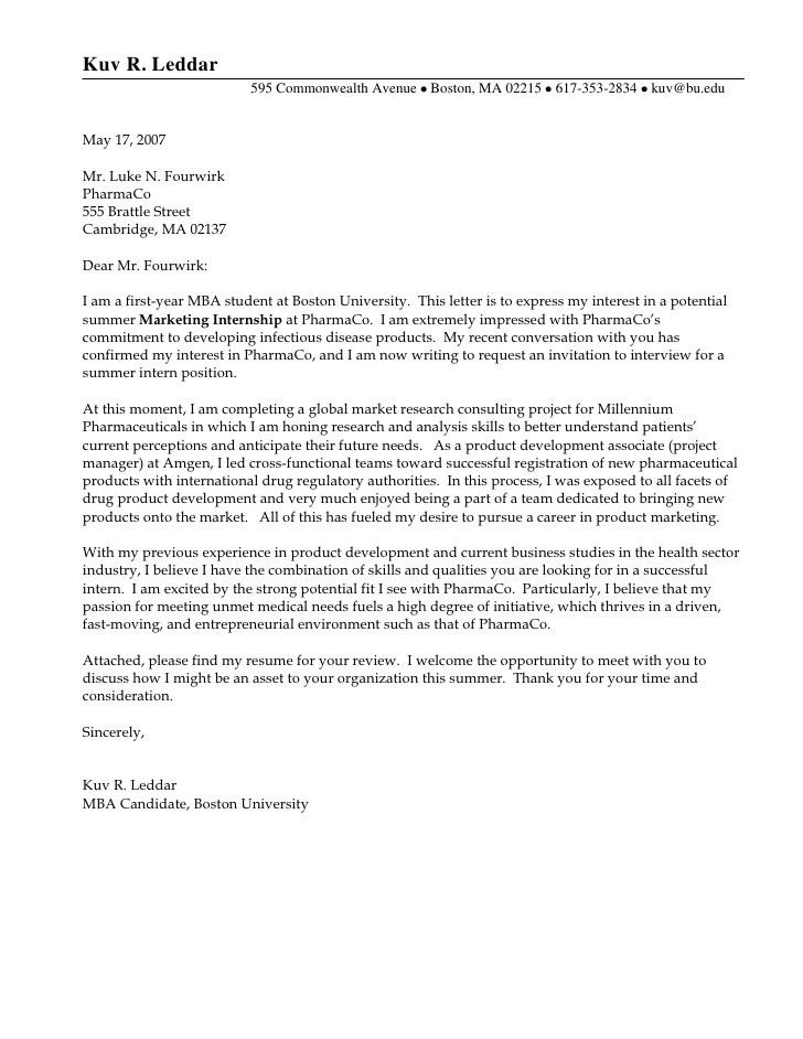 good cover letter example Internship Resume for College Student ...