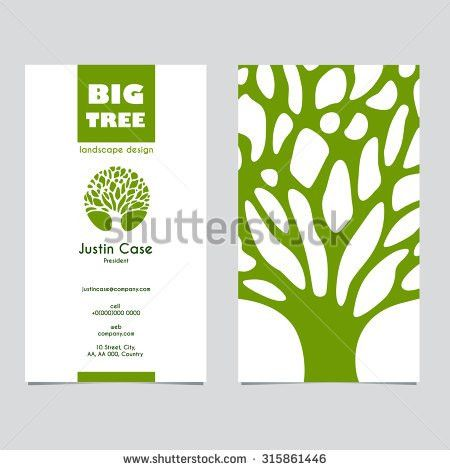 Abstract Tree sign & business card vector template. Vector icon ...