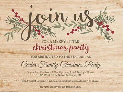 Printable Christmas Invites, Christmas Party Invitations - Smilebox